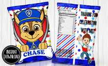 Load image into Gallery viewer, PAW PATROL- CHASE CHIP BAG DIGITAL ONLY