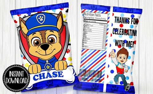 PAW PATROL- CHASE CHIP BAG DIGITAL ONLY