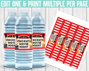 EDIT YOURSELF- MOVIE WATER LABEL