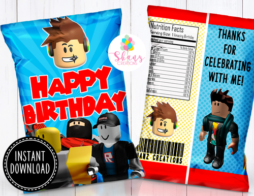 ROBLOX CHIP BAG- INSTANT DOWNLOAD!