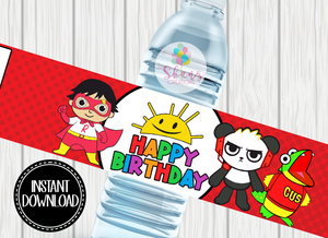 RYAN'S WORLD WATER BOTTLE LABEL- DIGITAL ONLY!