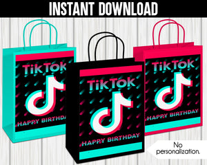 TIK TOK GIFT/FAVOR BAG LABELS- INSTANT DOWNLOAD