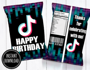 TIK TOK CHIP BAG- INSTANT DOWNLOAD!