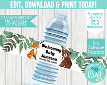Load image into Gallery viewer, EDIT YOURSELF- WOODLAND WATER LABEL