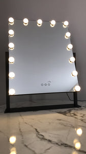 Large Travel Size LED Desk Mirror