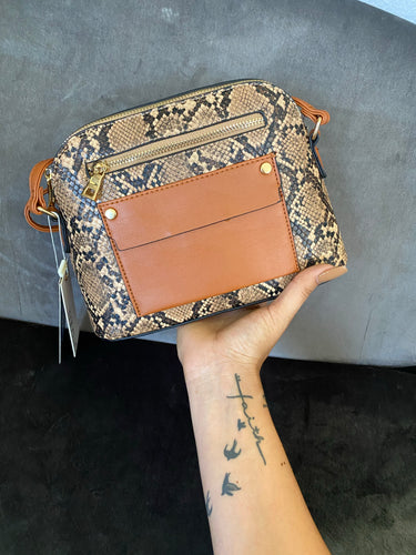 Sammy Snake Print Crossbody Bag