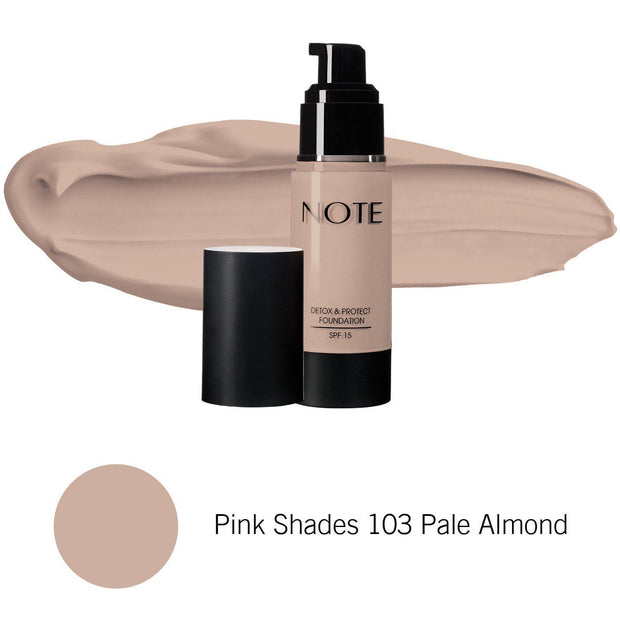 Detox & Protect Foundation-NOTE-Pink Shades 103 Pale Almond-Note Beauty