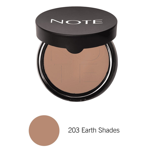 Luminous Silk Compact Powder-NOTE-203 Earth Shades Com-Note Beauty