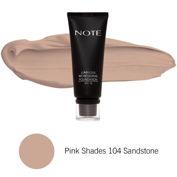 Luminous Moisturizing Foundation-NOTE-Pink Shades 104 Sandstone-Note Beauty