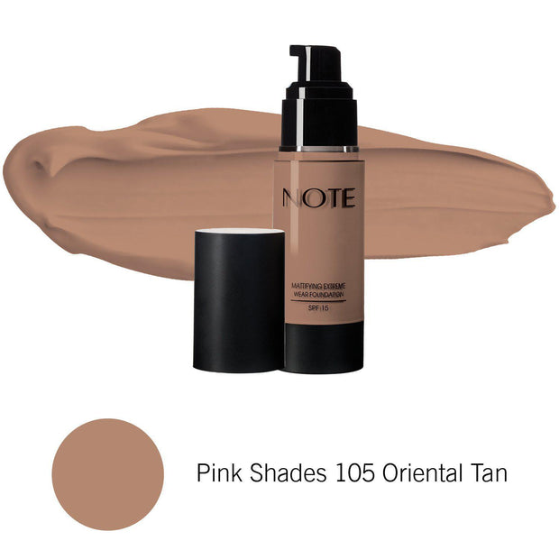Mattifying Extreme Wear Foundation-NOTE-Pink Shades 105 Oriental Tan-Note Beauty