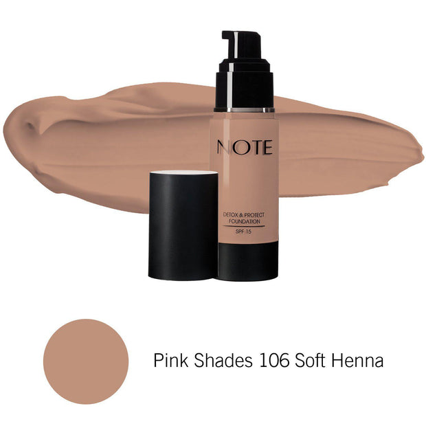 Detox & Protect Foundation-NOTE-Pink Shades 106 Soft Henna-Note Beauty