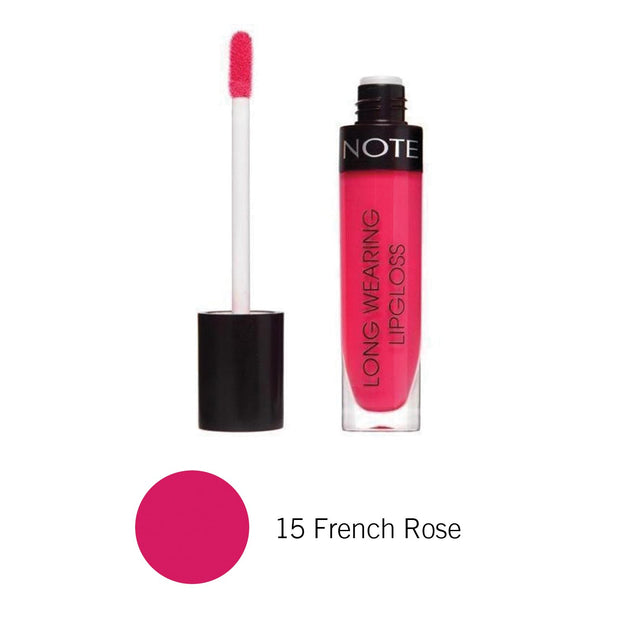 Long Wearing Lip Gloss-NOTE-15 French Rose Lon Glo-Note Beauty