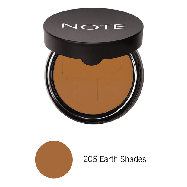 Luminous Silk Compact Powder-NOTE-206 Earth Shades Com-Note Beauty