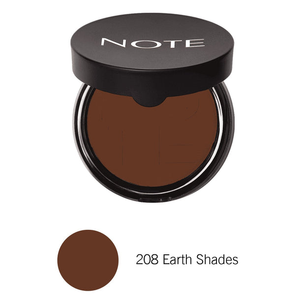 Luminous Silk Compact Powder-NOTE-208 Earth Shades Com-Note Beauty