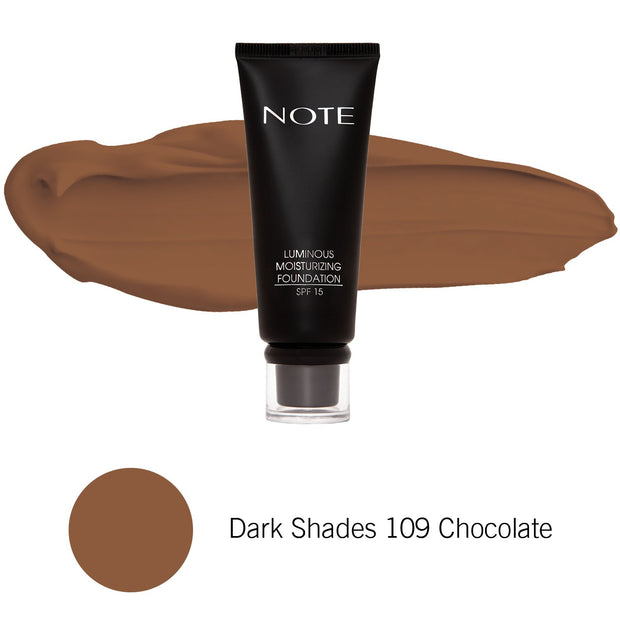 Luminous Moisturizing Foundation-NOTE-Dark Shades 109 Chocolate-Note Beauty