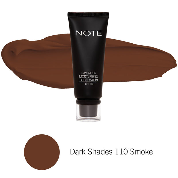 Luminous Moisturizing Foundation-NOTE-Dark Shades 110 Smoke-Note Beauty