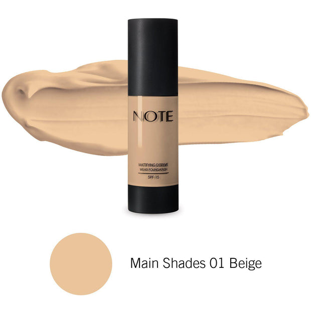 Mattifying Extreme Wear Foundation-NOTE-Main Shades 02 Natural Beige-Note Beauty