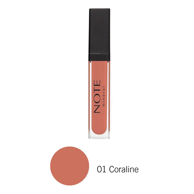 Mineral Lip Gloss-NOTE-01 Coraline-Note Beauty