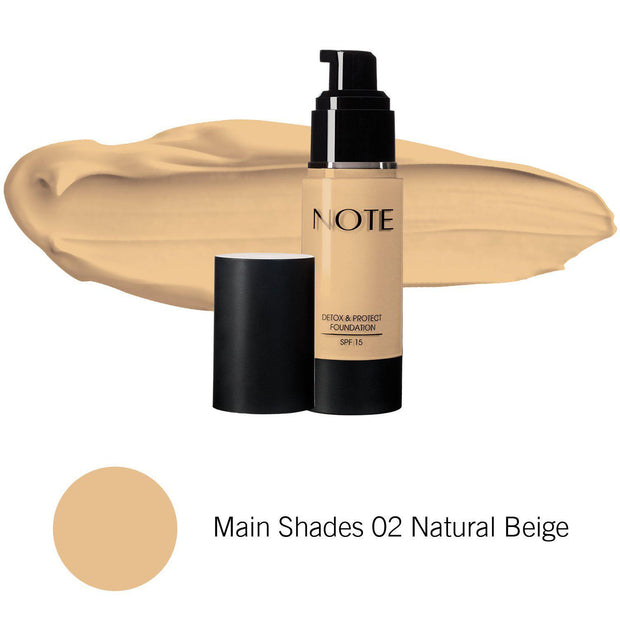 Detox & Protect Foundation-NOTE-Main Shades 02 Natural Beige-Note Beauty