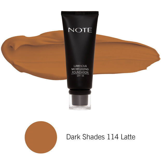 Luminous Moisturizing Foundation-NOTE-Dark Shades 114 Latte-Note Beauty