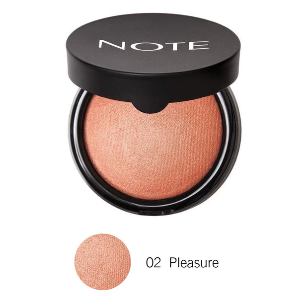 Terracotta Blusher-NOTE-02 Pleasure Terracotta Blusher-Note Beauty