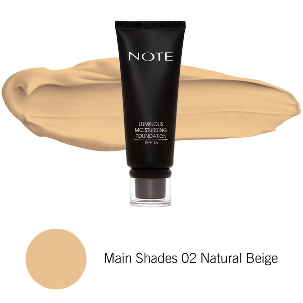 Luminous Moisturizing Foundation-NOTE-Main Shades 02 Natural Beige-Note Beauty