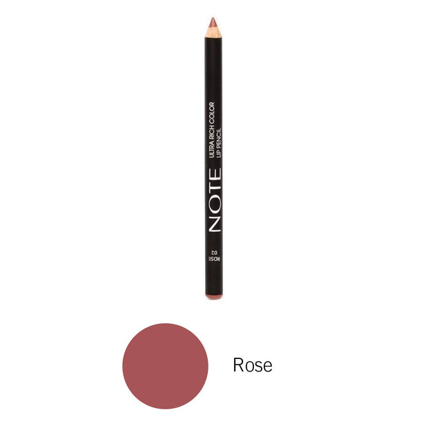 Ultra Rich Color Lip Pencil-NOTE-Rose-Note Beauty