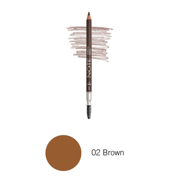 Eyebrow Pencil-NOTE-02 Brown Eyebrow Pencil-Note Beauty