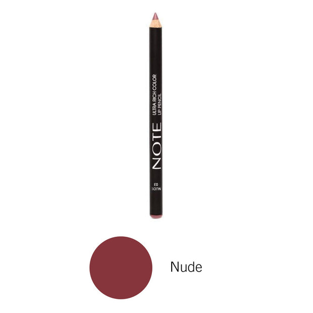 Best Seller Long Wearing Ultra Rich Color Lip Pencil NOTE-Nude-Note Cosmetics