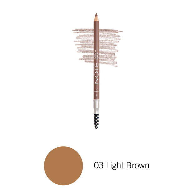 Eyebrow Pencil-NOTE-03 Light Brown Eyebrow Pencil-Note Beauty