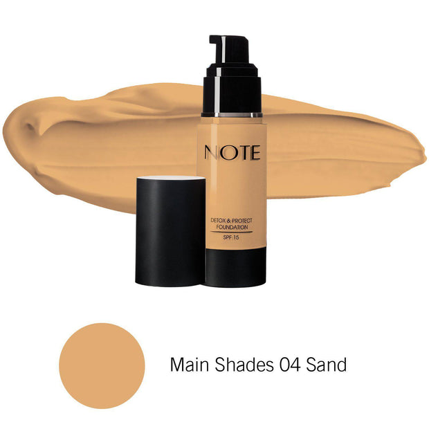 Detox & Protect Foundation-NOTE-Main Shades 04 Sand-Note Beauty