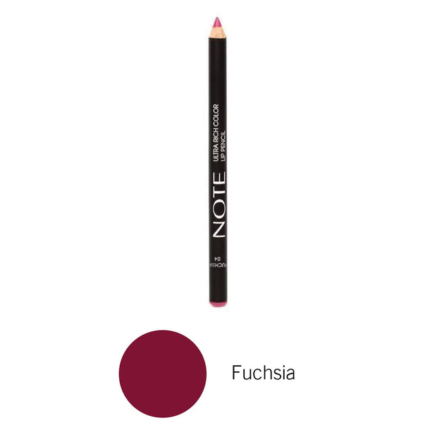 Top Long Wearing Ultra Rich Color Lip Pencil-NOTE-Fuchsia-Note Beauty