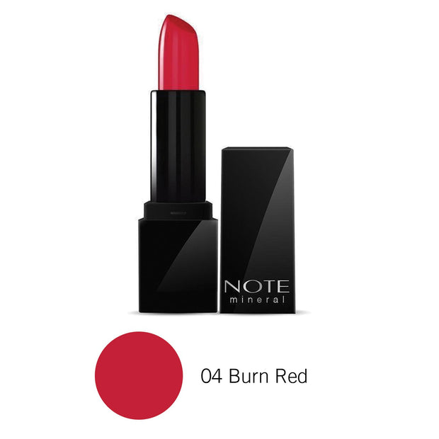 Mineral Semi Matte Lipstick-NOTE-04 Burn Red-Note Beauty