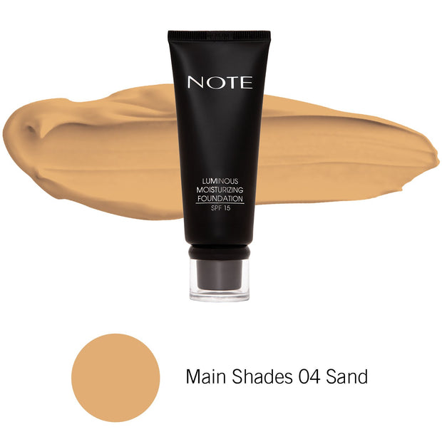 Luminous Moisturizing Foundation-NOTE-Main Shades 04 Sand-Note Beauty