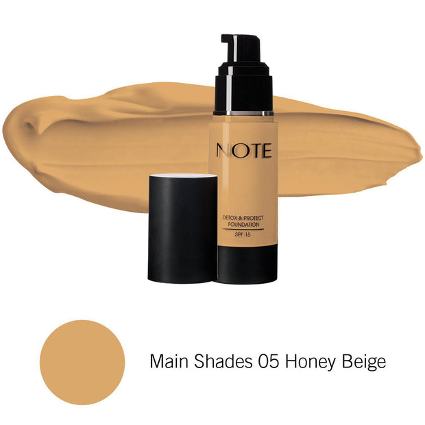 Detox & Protect Foundation-NOTE-Main Shades 05 Honey Beige-Note Beauty