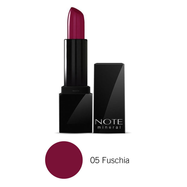 Mineral Semi Matte Lipstick-NOTE-05 Fuschia-Note Beauty