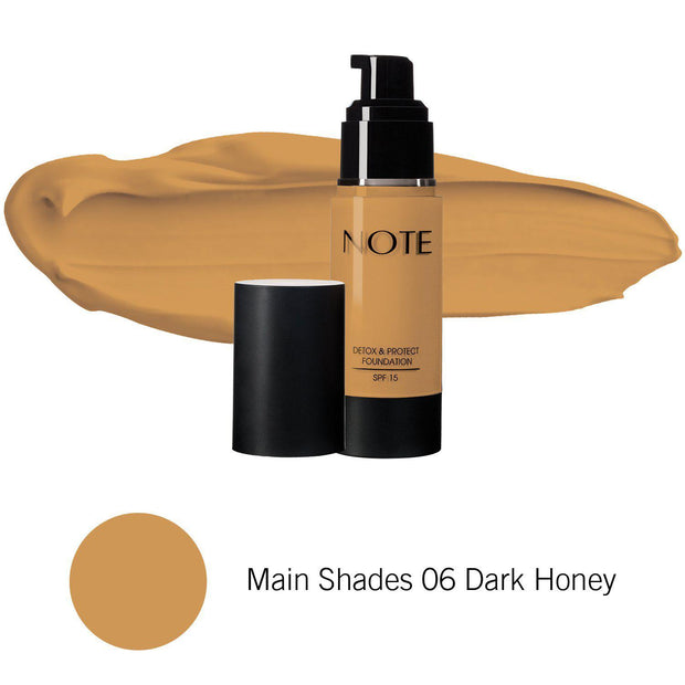 Detox & Protect Foundation-NOTE-Main Shades 06 Dark Honey-Note Beauty