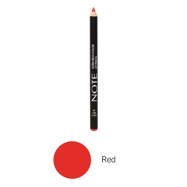 Ultra Rich Color Lip Pencil-NOTE-Red-Note Beauty