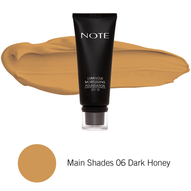 Luminous Moisturizing Foundation-NOTE-Main Shades 06 Dark Honey-Note Beauty