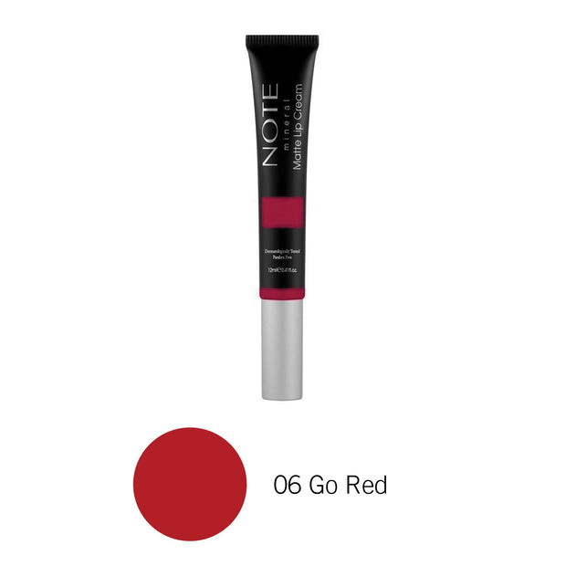Mineral Matte Lip Cream-NOTE-06 Go Red-Note Beauty