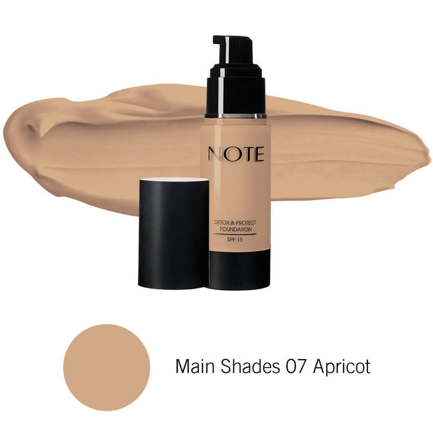 Detox & Protect Foundation-NOTE-Main Shades 07 Apricot-Note Beauty