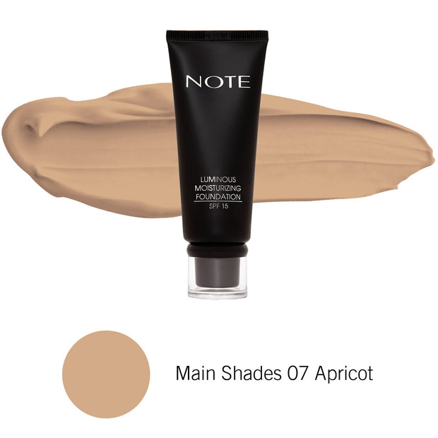 Luminous Moisturizing Foundation-NOTE-Main Shades 07 Apricot-Note Beauty