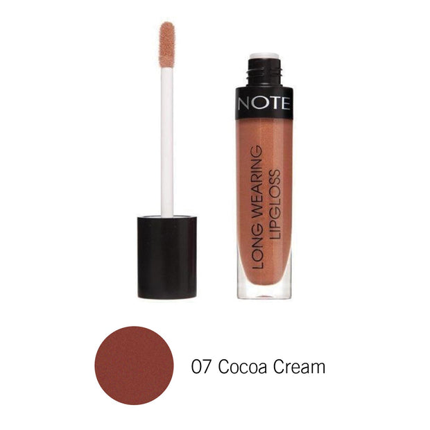 Long Wearing Lip Gloss-NOTE-07 Cocoa Cream Lon Glo-Note Beauty