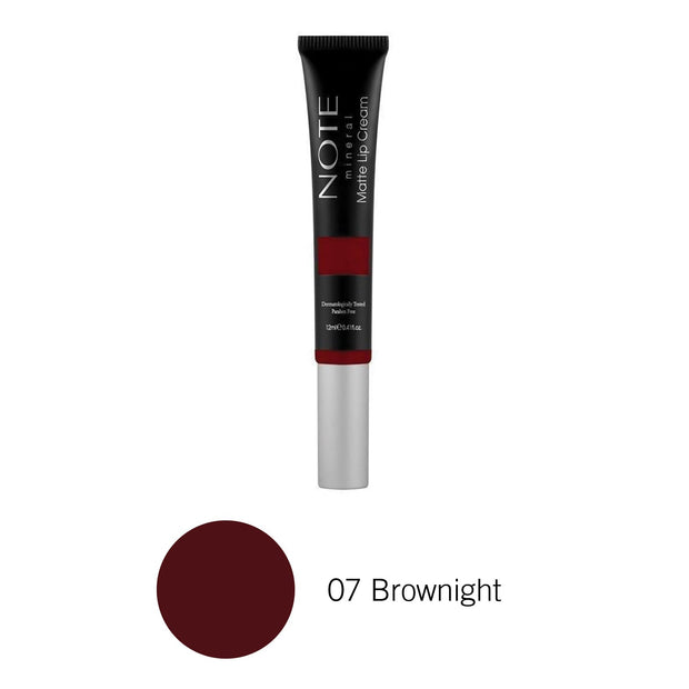 Mineral Matte Lip Cream-NOTE-07 Brownight-Note Beauty