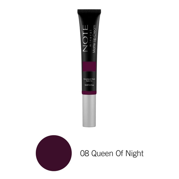 Mineral Matte Lip Cream-NOTE-08 Queen Of Night-Note Beauty