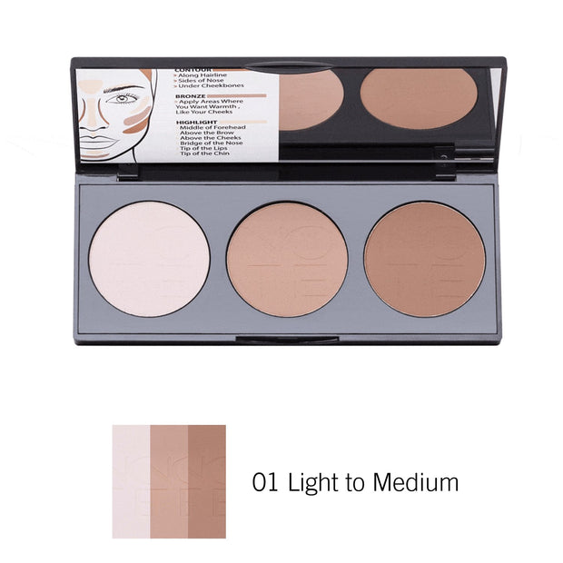 Perfecting Contour Kit Powder Palette-Note Beauty-01 Light to Medium-Note Beauty