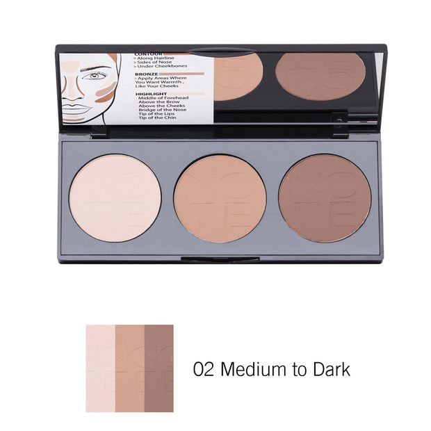 Perfecting Contour Kit Powder Palette-Note Beauty-02 Medium to Dark-Note Beauty