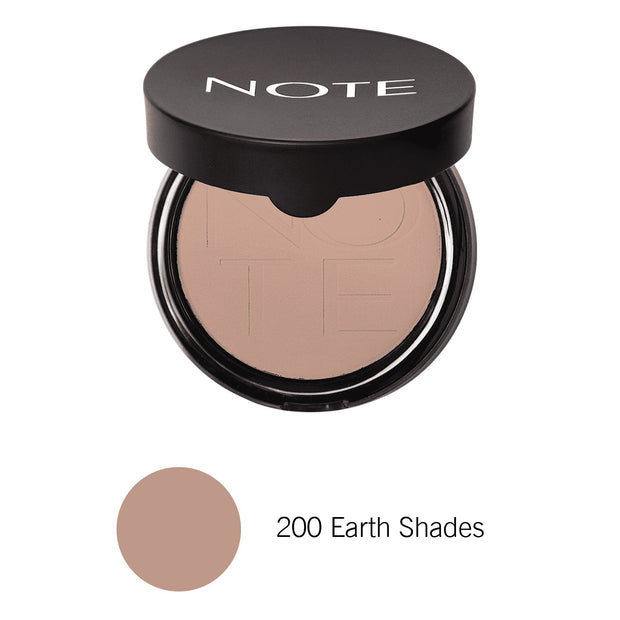 Luminous Silk Compact Powder-NOTE-200 Earth Shades Com-Note Beauty