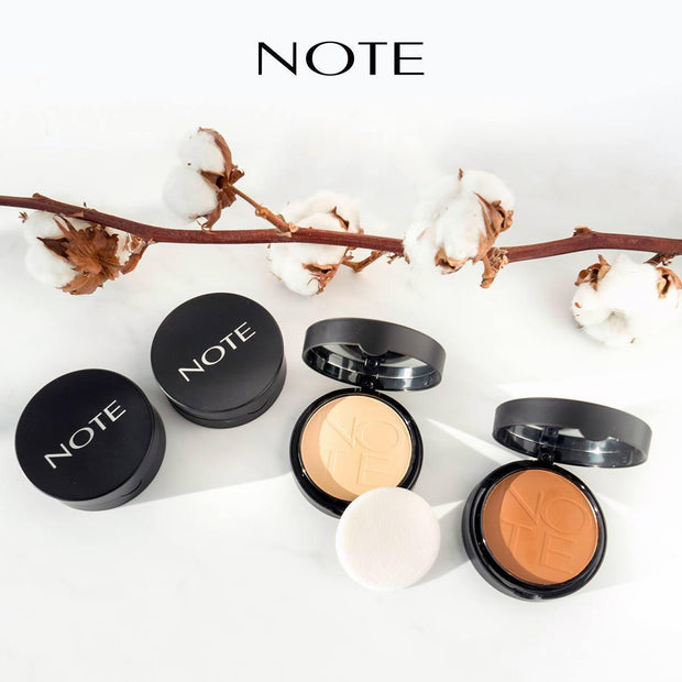 Luminous Silk Compact Powder-NOTE-01 Beige Com-Note Beauty