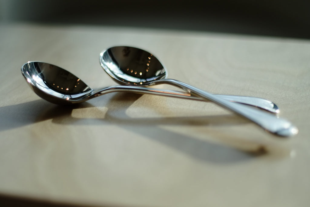 Large Cupping Spoon - Silver Plated & Engraved